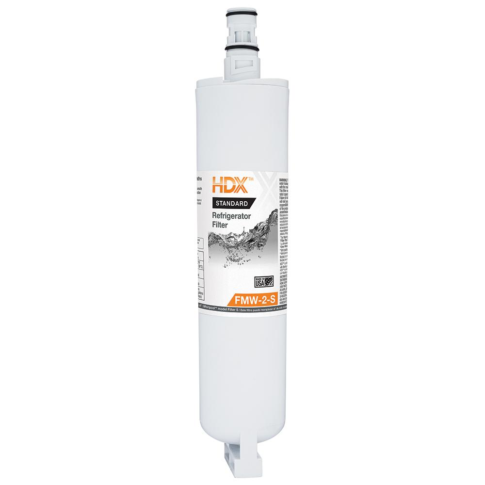 HDX FMW-2-S Standard Refrigerator Replacement Filter Fits Whirlpool Filter 5