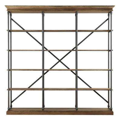 Manor Drive Vintage Oak Open Bookcase