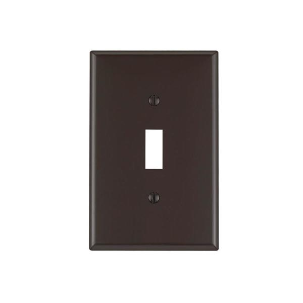 Decora Brown 1-Gang Decorator/Rocker Wall Plate