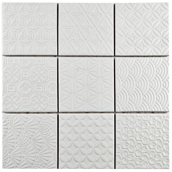 Spirit White 11-5/8 in. x 11-5/8 in. x 6 mm Porcelain Mosaic Tile