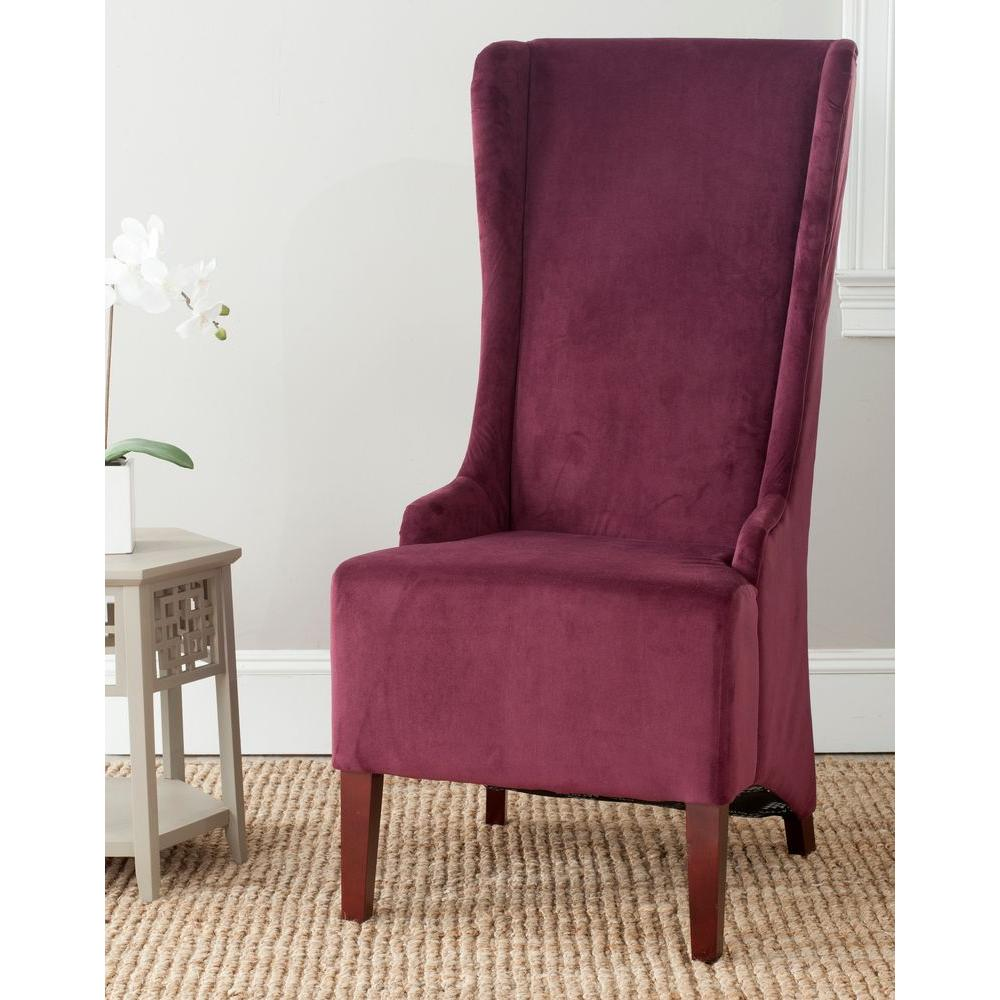 Bacall Bordeaux Cotton Dining Chair