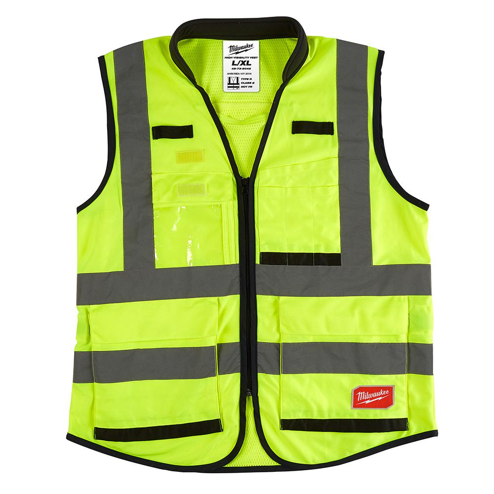 Milwaukee Milwaukee High Performance Large/X-Large Yellow Class 2 High Visibility Safety Vest, Adult Unisex