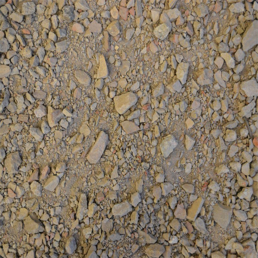 Crushed Rock Sizes : Yards crushed stone stcrb the home depot