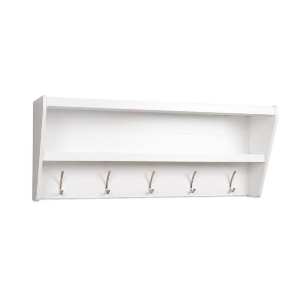 Prepac 48.5 in. x 19.25 in. Floating Entryway Shelf and Coat