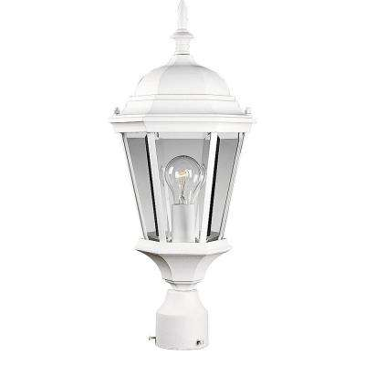 Welbourne Collection 1-Light Textured White Post Lantern