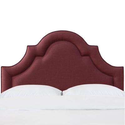 Beech Zuma Oxblood California King Arched Border Headboard