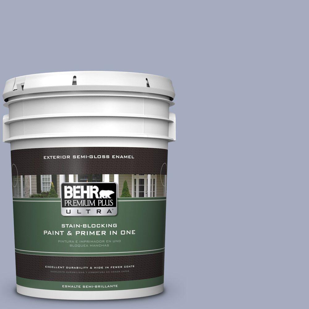 BEHR Premium Plus Ultra 5-gal. #ICC-55 Hydrangea Blossom Semi-Gloss Enamel Exterior Paint