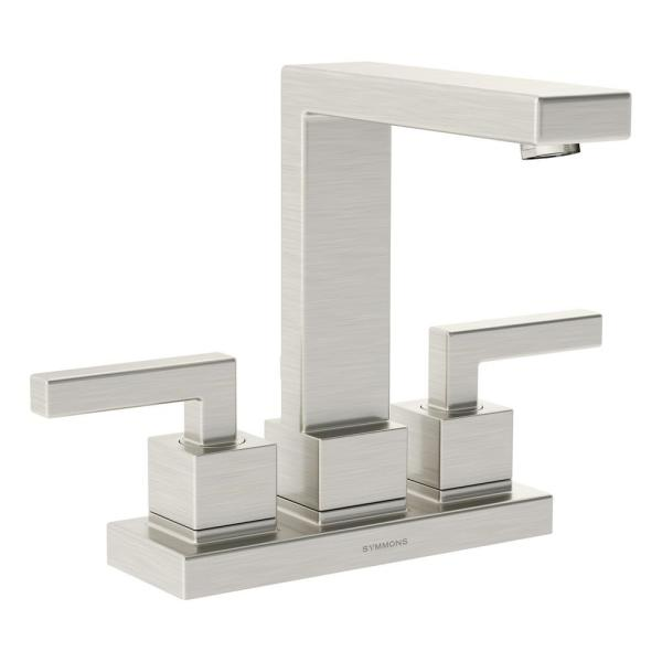 Duro 4 in. Centerset 2-Handle Bathroom Faucet with Drain Assembly in Brushed Nickel