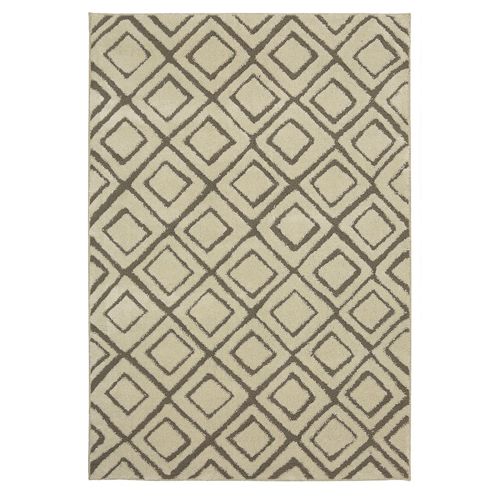 Mohawk Home Squares Cream 8 ft. x 10 ft. Area Rug