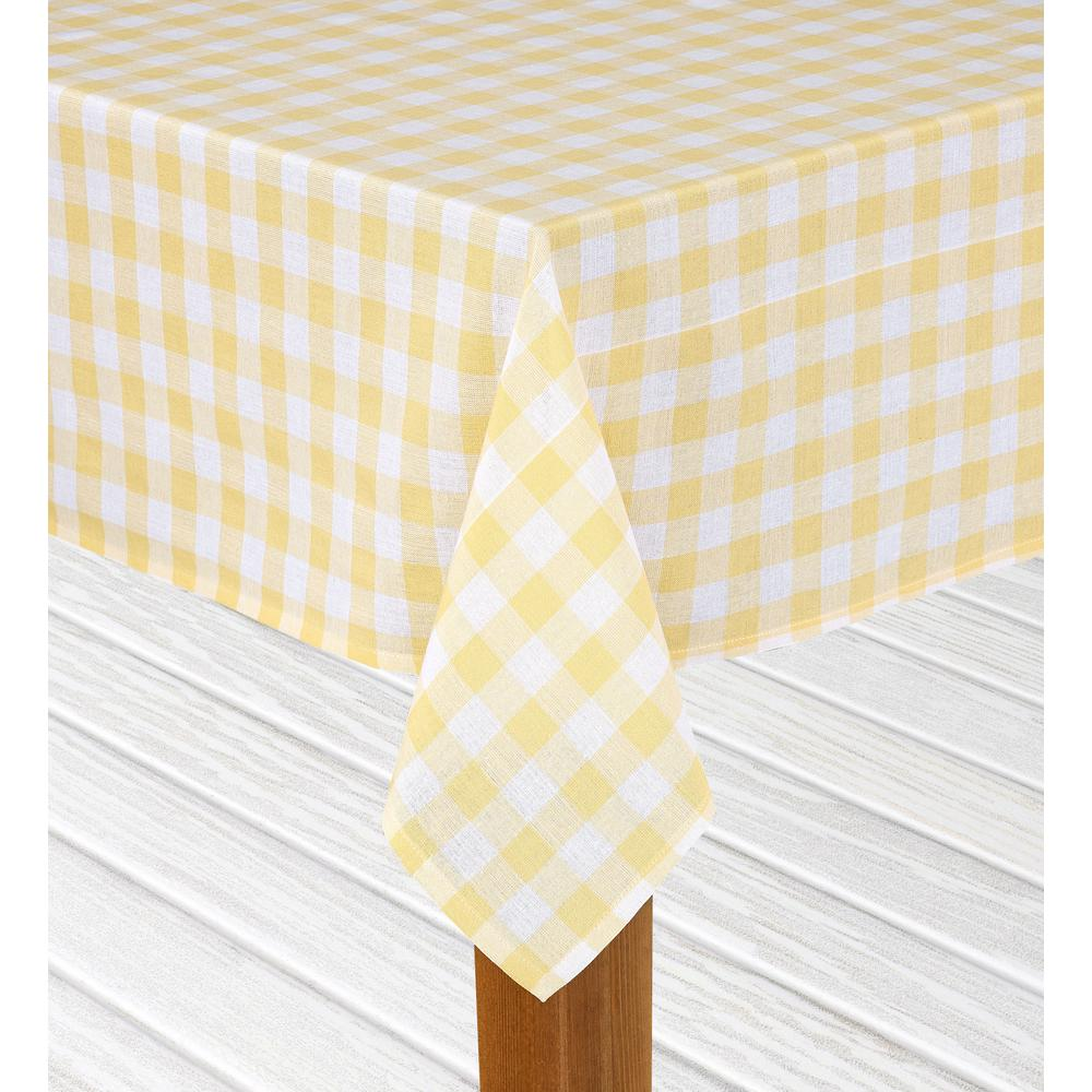 Round Yellow 100% Cotton Table Cloth For Any Table