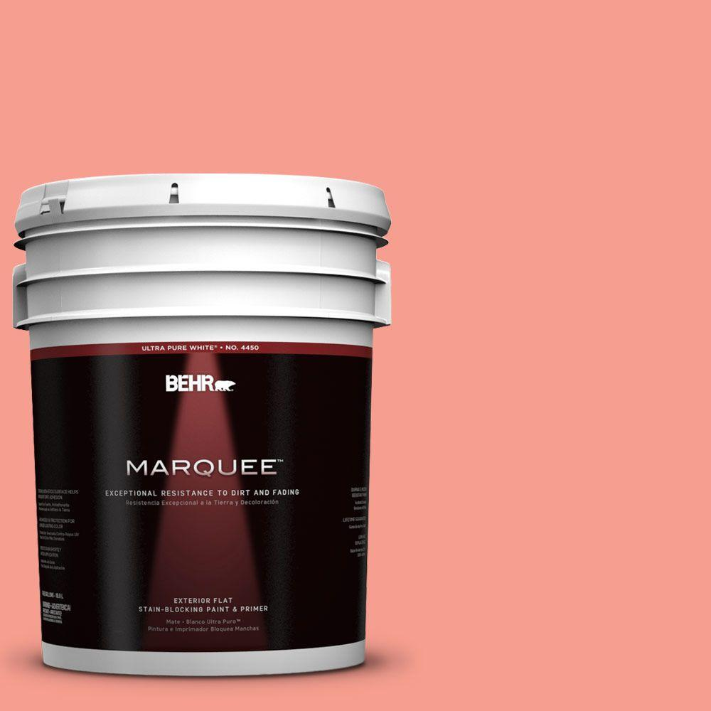 BEHR MARQUEE 5-gal. #180B-4 Fruit Shake Flat Exterior Paint