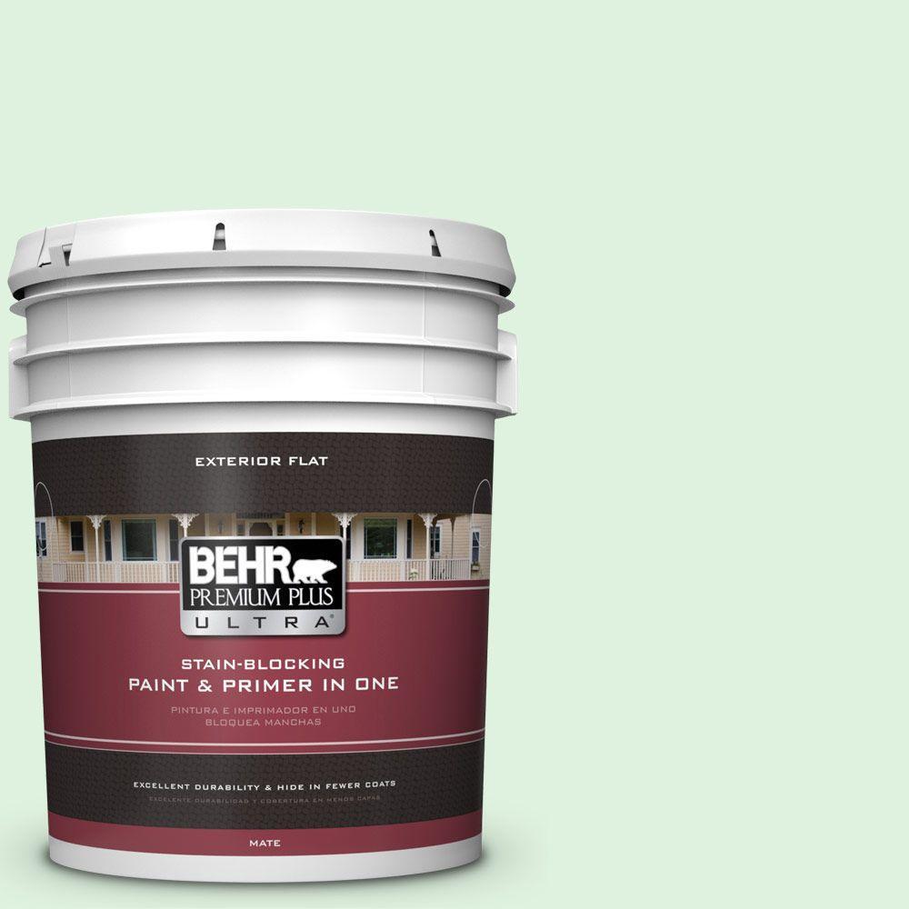 BEHR Premium Plus Ultra 5-gal. #P400-1 Mischievous Flat Exterior Paint