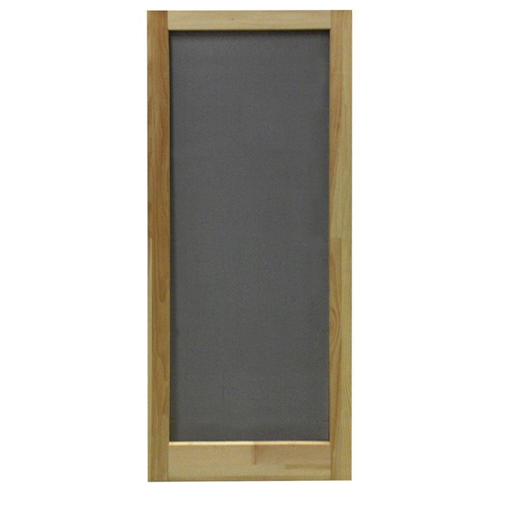 32 in. x 80 in. Meadow Wood Unfinished Reversible Hinged Screen Door