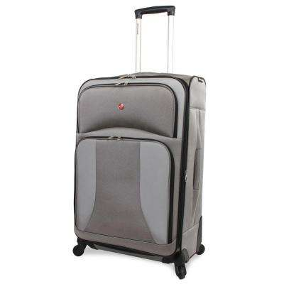 28 in. Pewter Spinner Suitcase