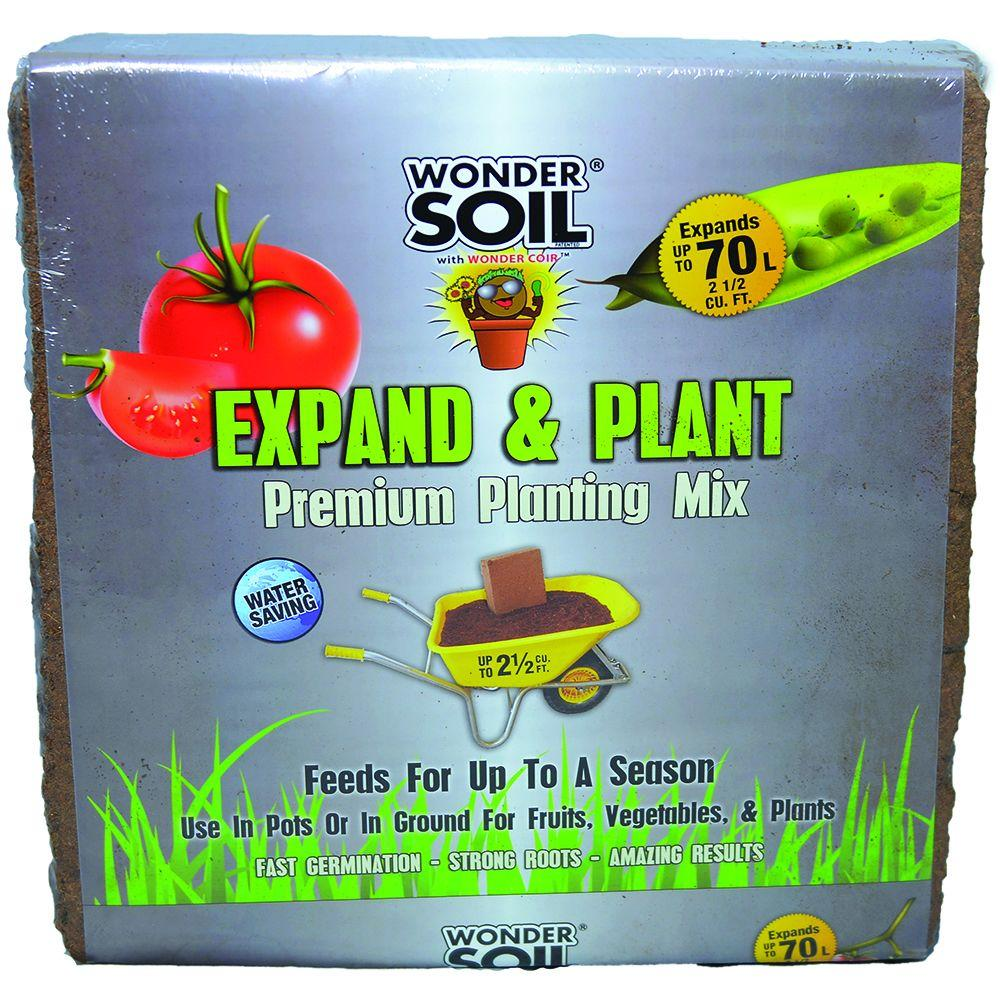 WONDER SOIL 2-1/2 cu. ft. Premium Expand and Plant Complete Mix Coco Cube