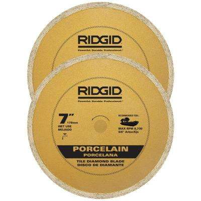 7 in. Tile Diamond Blade (2-Pack)