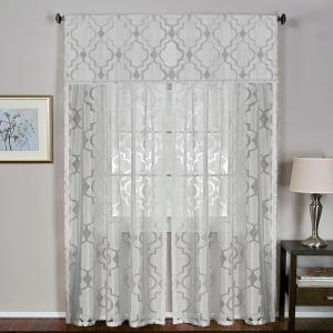 Montego 52 inch W x 15 inch L Ironwork Sheer Window Valance in White by