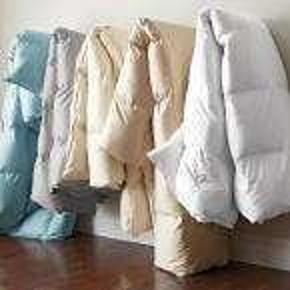The Company Store White Bay Super Light Warmth White Queen Down Comforter