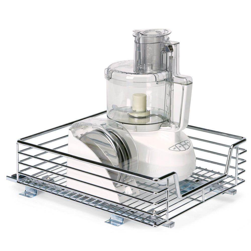 Household Essentials 14.5 in. Sliding Organizer-Chrome