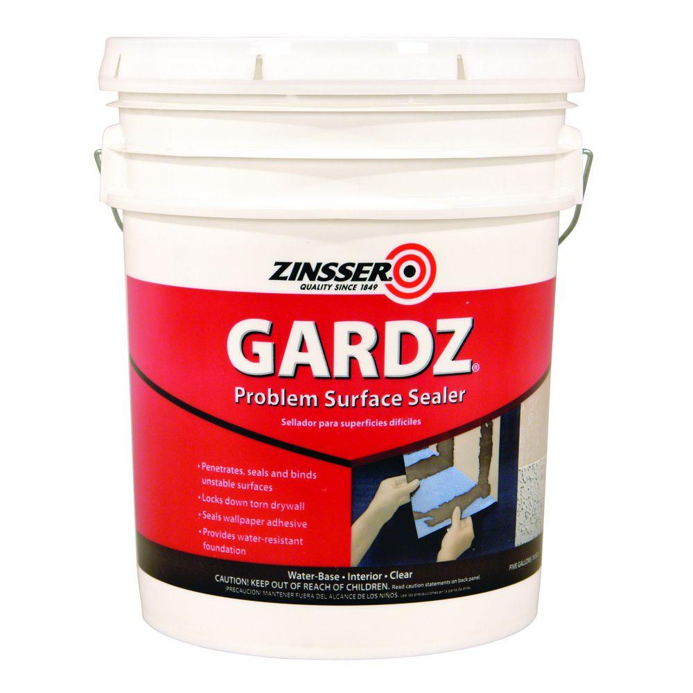 Zinsser GARDZ 5 gal. Clear Water-Based Interior Problem Surface Sealer