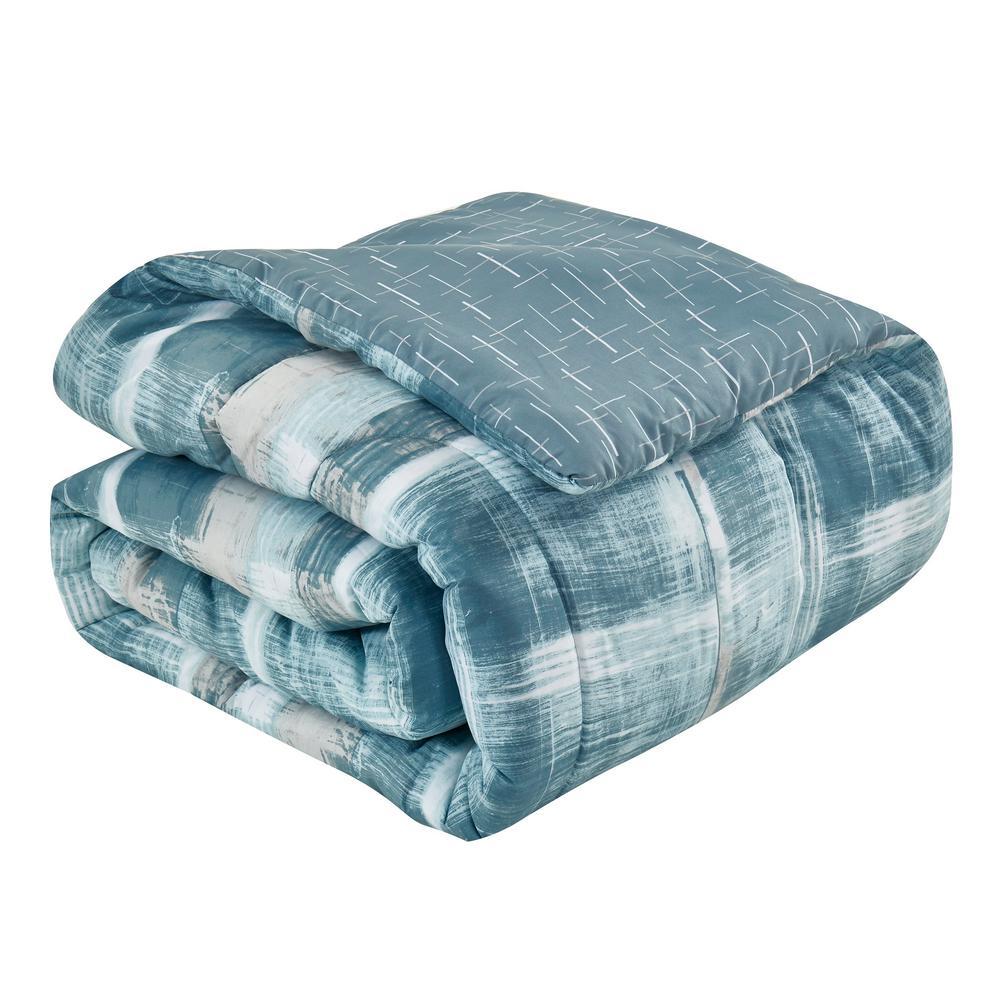 Kelsey 8-Piece Aqua Queen Comforter Set