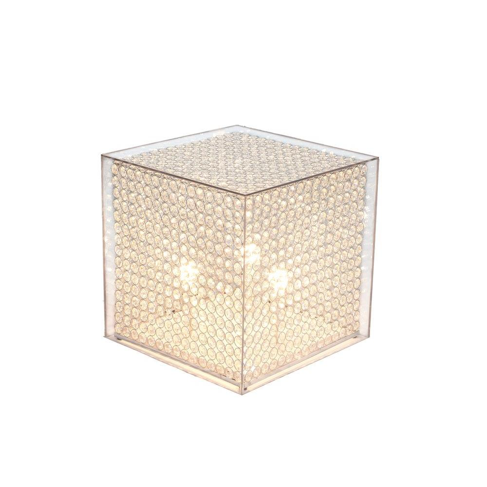 Arclite 20 In Crystal Cube Stand Floor Lamp With Clear