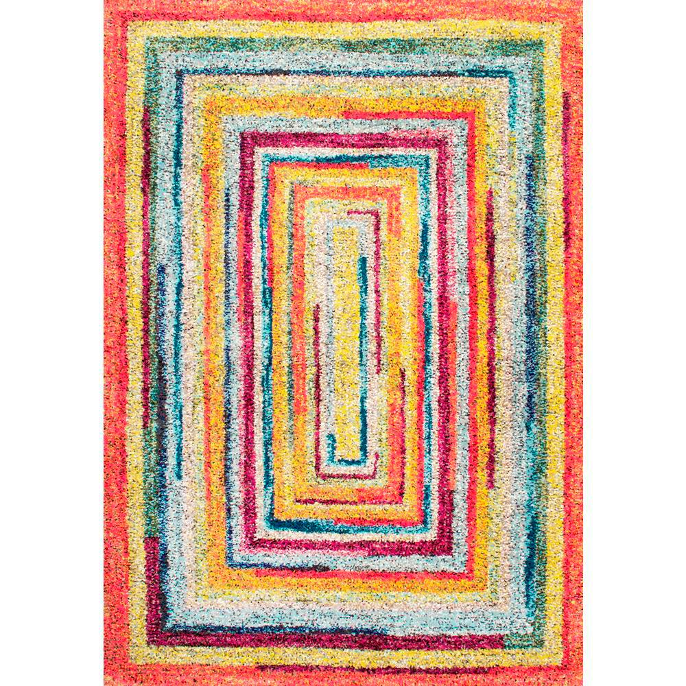 Hargis Labyrinth Multi 4 ft. 1 in. x 6 ft. Area