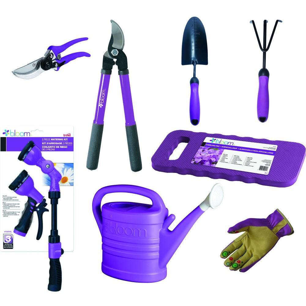 Bond manufacturing bloom starter kit in purple 9 piece for Garden tools manufacturers