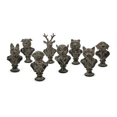 Jefferson Suited Animal Busts Assorted 8