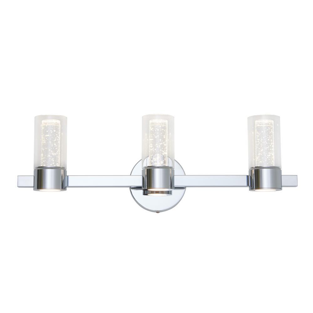 Essence 27 in. Chrome LED Vanity Light Bar