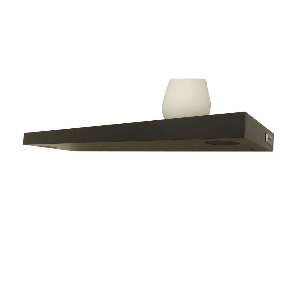 StudioSync 35.4 in. L x 9.84 in. W 2-Speaker Black Floating Shelf