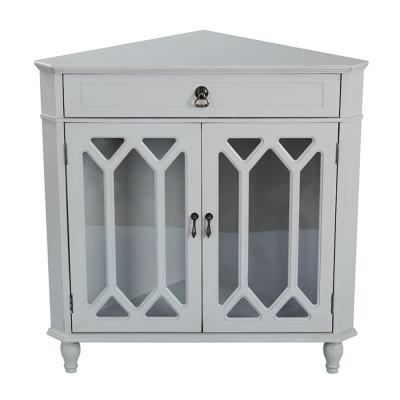 HomeRoots Shelly Light Sage Wood Cabinet with a Drawer and Door