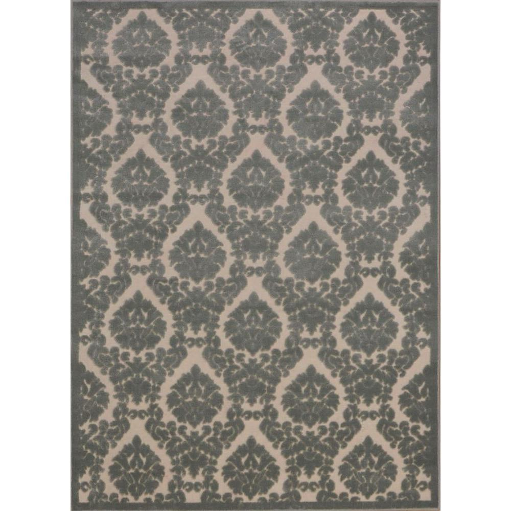 Nourison Overstock Ultima Ivory/Green 7 ft. 9 in. x 10 ft. 10 in. Area Rug