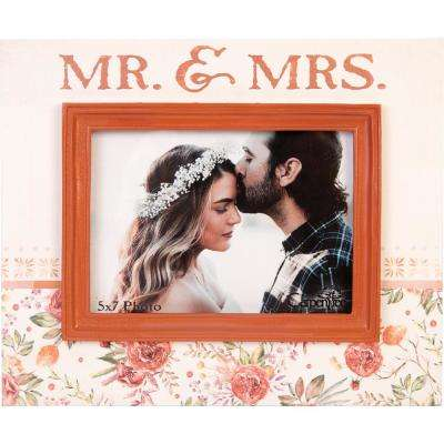 "Enchanted Wedding 5 in x 7 in ""Mr & Mrs"" Printed Photo Frame"
