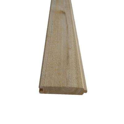 1 in. x 4 in. x 8 ft. Knotty Cedar Tongue and Groove Siding 6-Pack