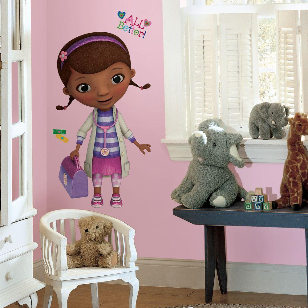 Doc mcstuffins peel and stick giant 18 piece wall decals for 8 sheet giant wall mural
