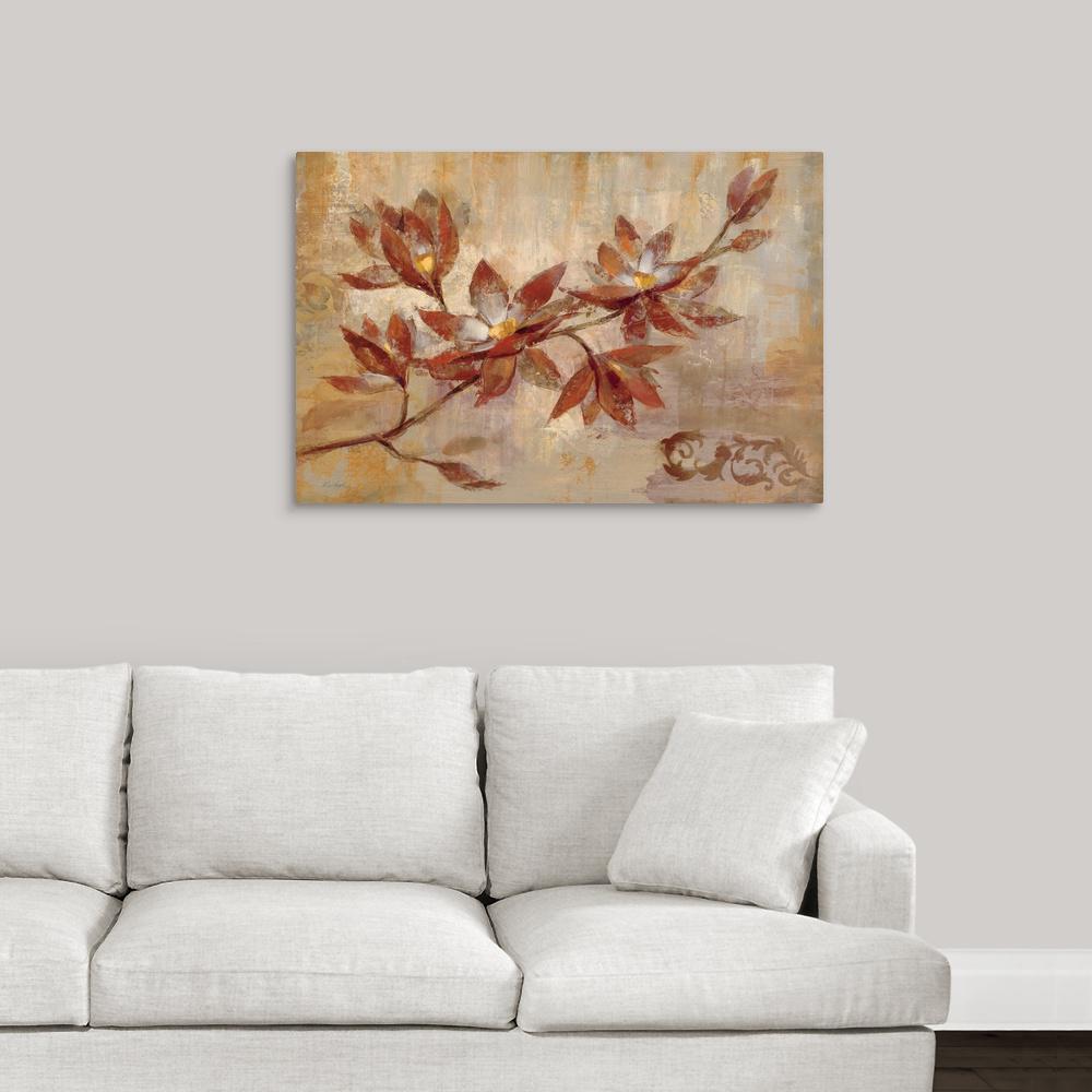 GreatBigCanvas ''Copper Branch'' by Silvia Vassileva Canvas Wall Art 1051621_24_36x24