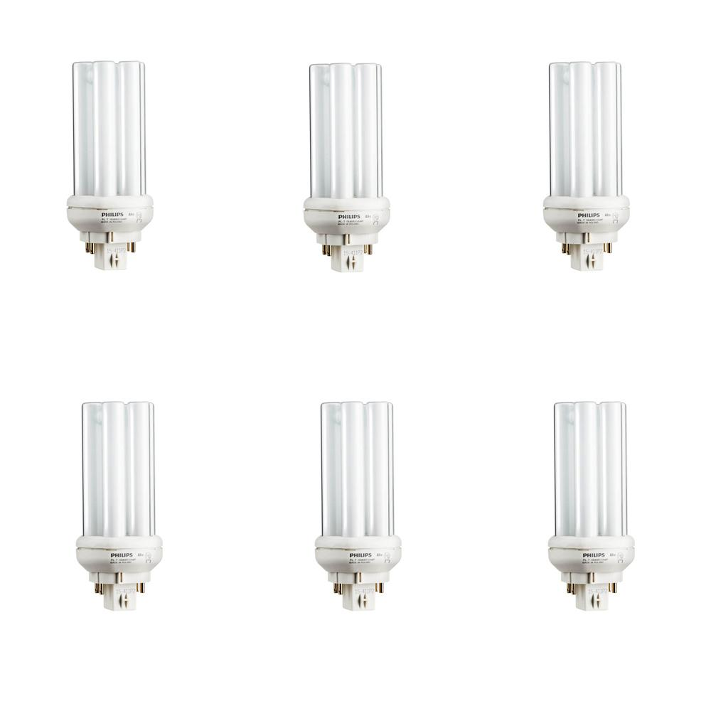 18-Watt Equivalent CFLNI PL-T Amalgam Compact Gx24q-2 Quad Tube 4-Pin Light