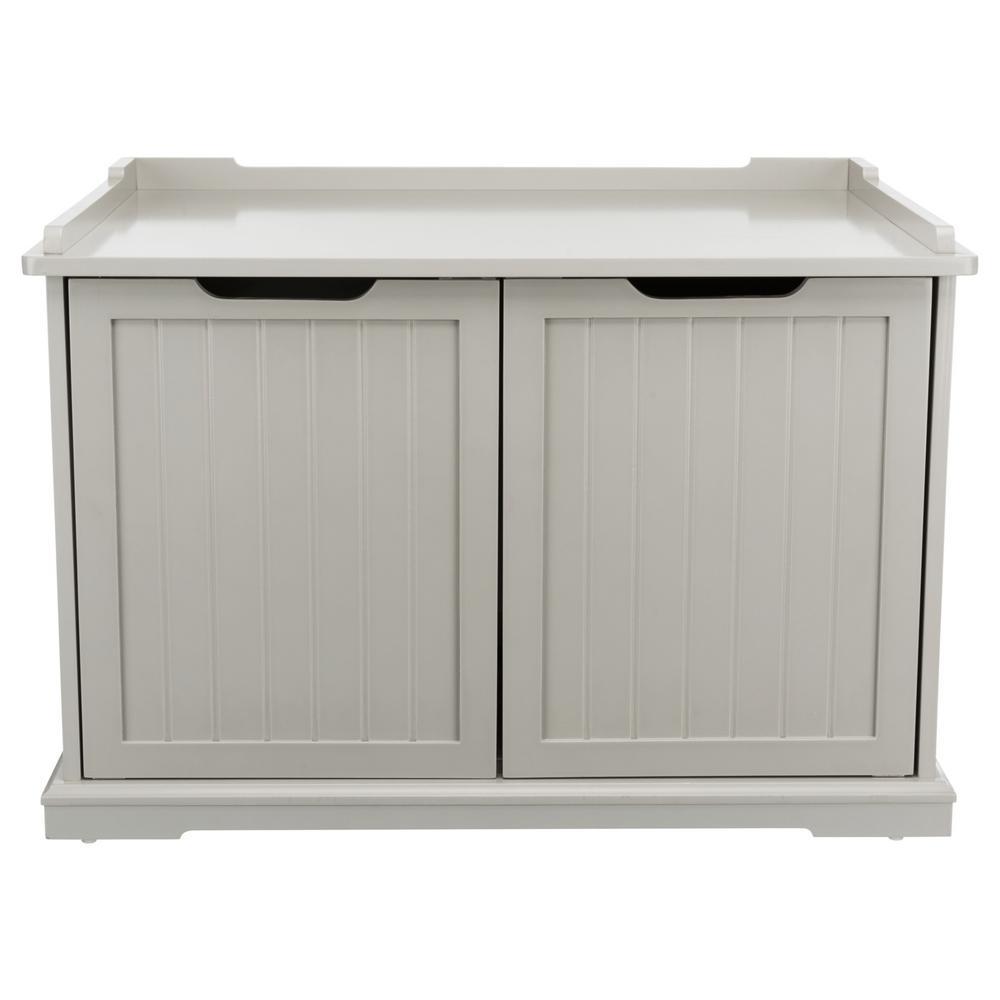 XL Wooden Litter Box Enclosurein Gray