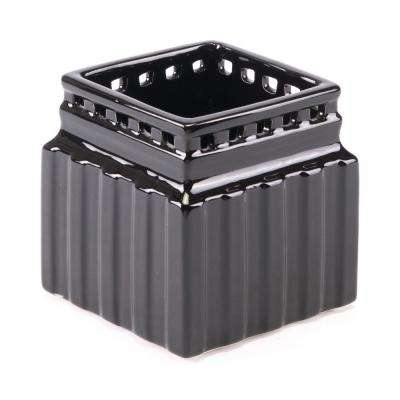 Roman 4.3 in. W x 4.3 in. H Black Dolomite Planter