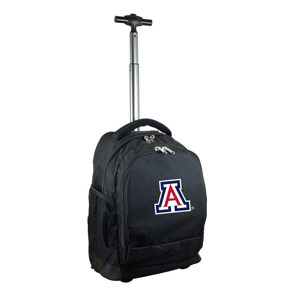 NCAA Arizona 19 in. Black Wheeled Premium Backpack
