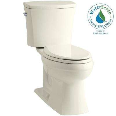 Kelston Comfort Height 2-piece 1.28 GPF Elongated Toilet with AquaPiston Flushing Technology in Biscuit