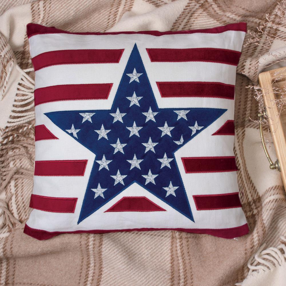 American Flag II Multicolor Decorative Pillow (Set of 2)