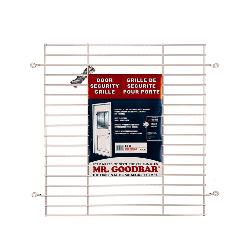 Security Door Grille White Steel Home Garage Vertical Interior