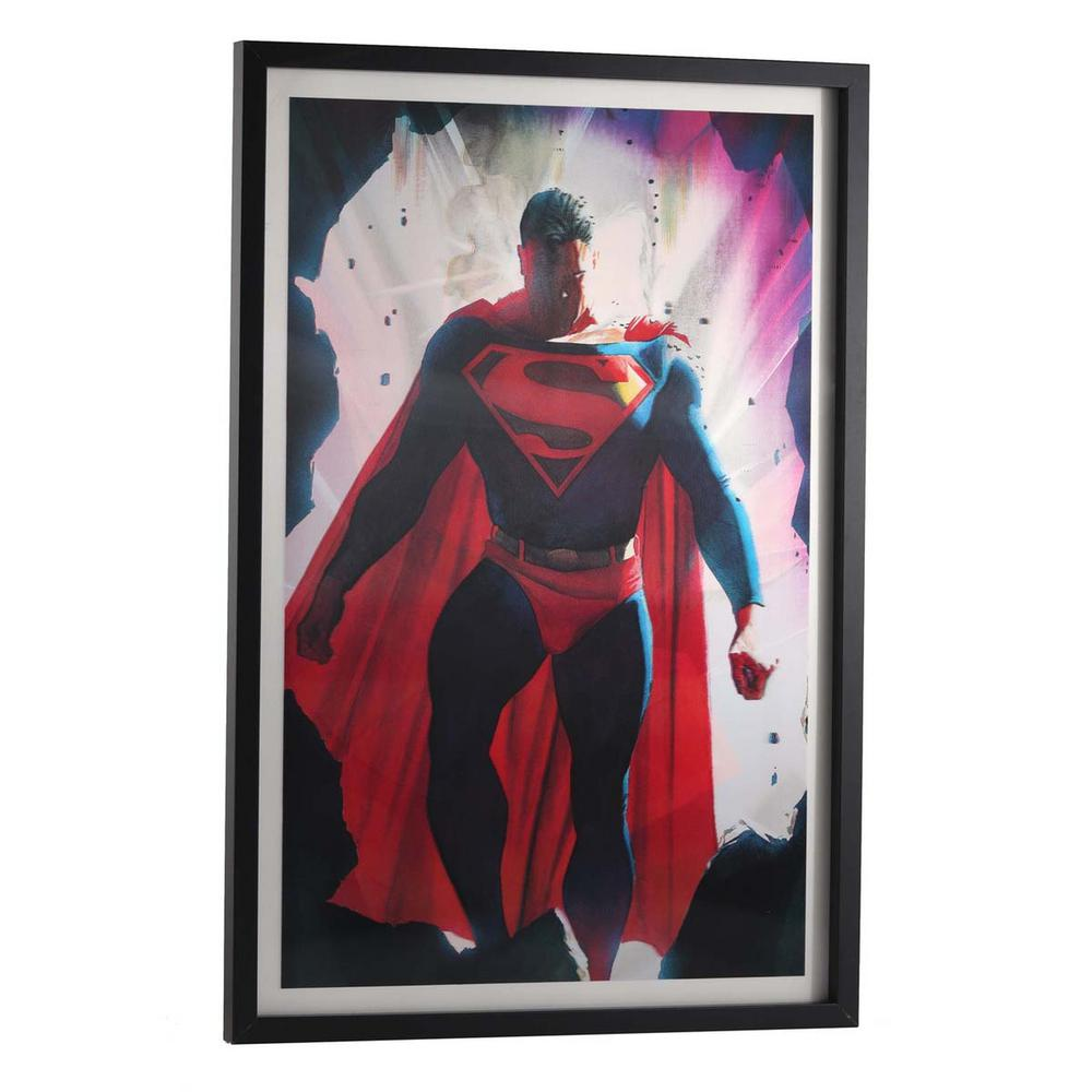 dc comics 28 in x 19 in superman by alex ross printed framed