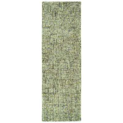 Lucero Green 2 ft. 6 in. x 8 ft. Runner Rug