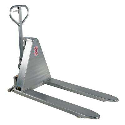2,000 lbs. Capacity 27 in. Fork Width Hand Pump Stainless Steel Tote Lifter