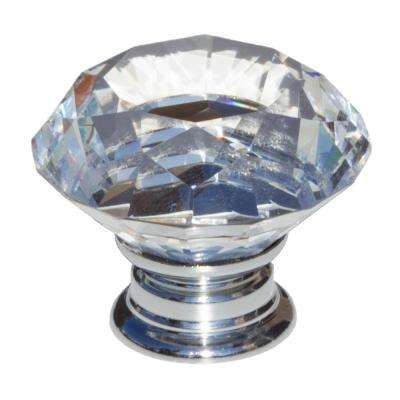 1-5/8 in. Dia Clear K9 Crystal Diamond Shape Cabinet Knob (10-Pack)