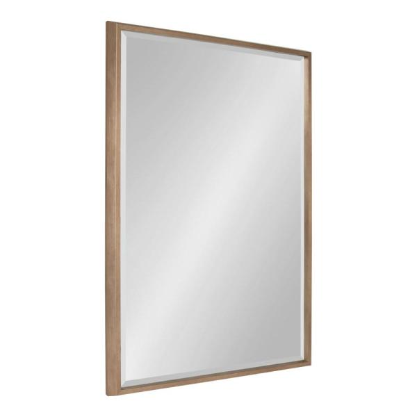 Kate and Laurel Blake Rectangle Gold Wall Mirror 214055