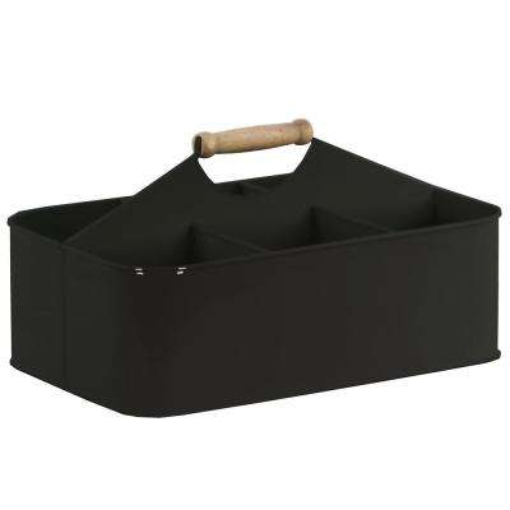 Rectangle Metal Coated Black Decorative Basket